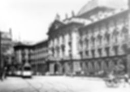A-Tw am Stachus bei Ausfahrt aus der Prielmayerstraße 1928 tram münchen