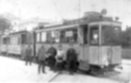 A3-Tw 149 an der Endhaltestelle Wolfratshausener Straße einwärts 1916 tram München