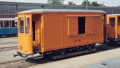 Salzwagen  Typ: s 4.48 Nr. 3903 im Betriebshof 6 münchen Tram