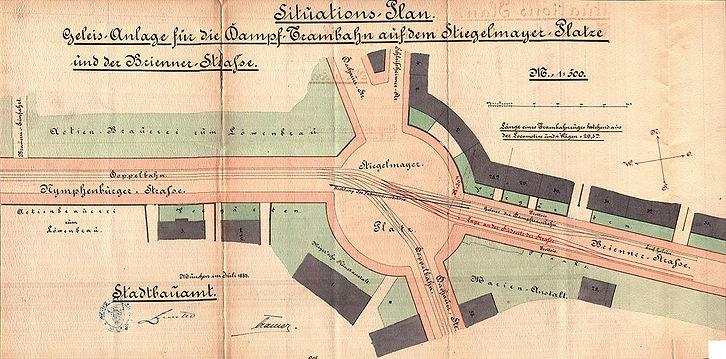 1883-07 Stieglmayerplatz Dampftambahn Ba