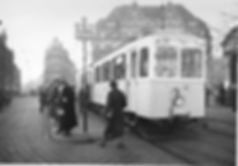 Z4-Tw 351 an der Haltestelle Stachus einwärts 1938 tram München