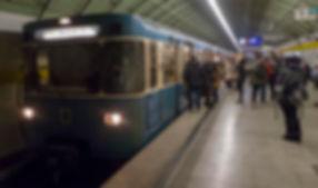 U5 am Odeonsplatz unterwegs nach Neuperlach Süd am 7.2.2018 tram münchen u-bahn