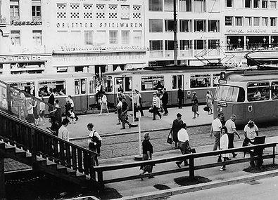 L8-84 Mai 1968 Stachus FMTM Karlsplatz Seufzerbrücke Baustelle