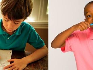 Cepillado de dientes de los niños