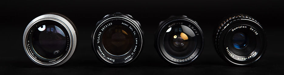 Old lenses objektivy M42