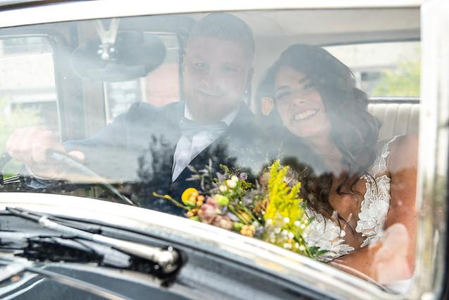 Svatební focení v autě