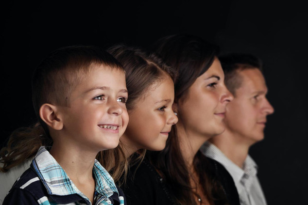 rodinné focení v ateliéru
