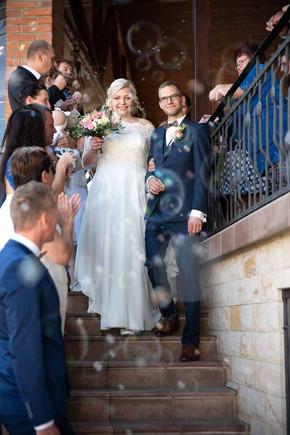 svatební focení s bublifukem