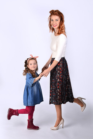 focení v ateliéru maminka s dcerou