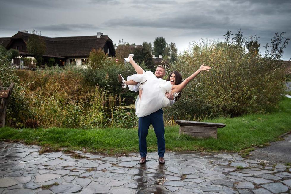 Svatební focení v náručí