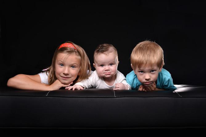 focení dětí v ateliéru