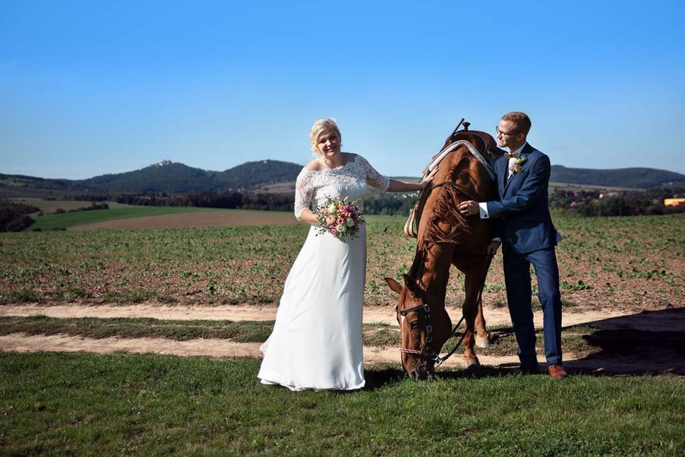 Svatební focení s koněm
