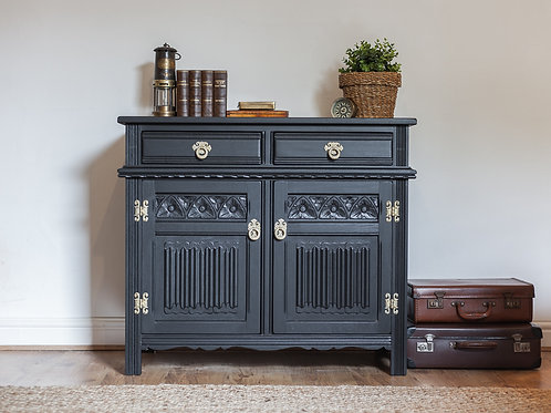 Old Charm Sideboard in Coal Black