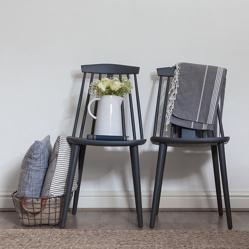 A Pair of Wooden Dining Chairs