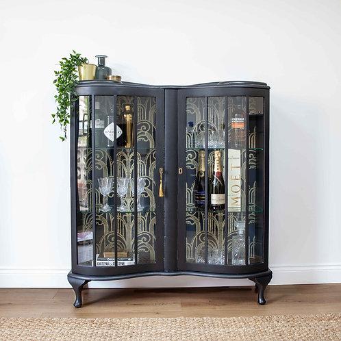 Barget Built London 1930's Art Deco Display Cabinet