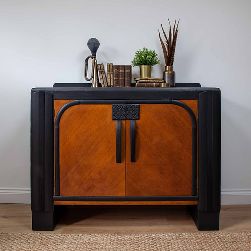 Art Deco Curved Floral Sideboard