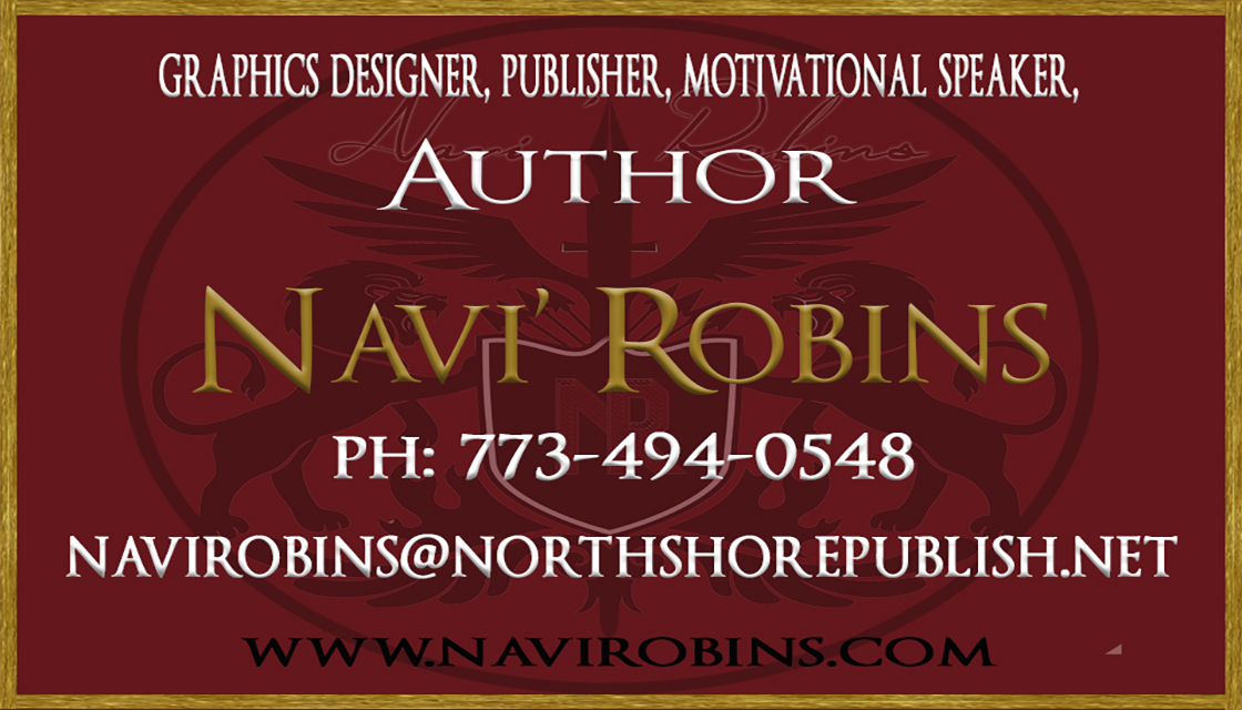 navi robins front business card