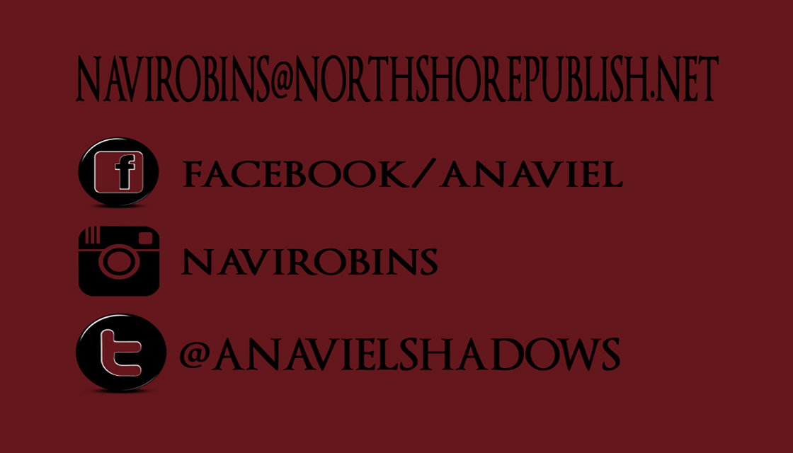 navi robins back of  business card