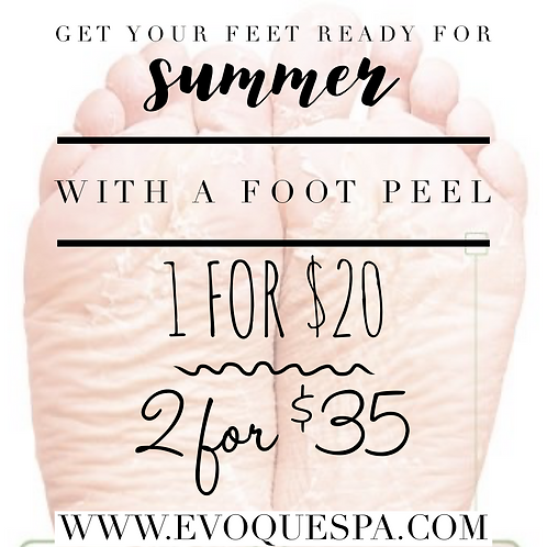 2 Home Foot Peel Kits $35