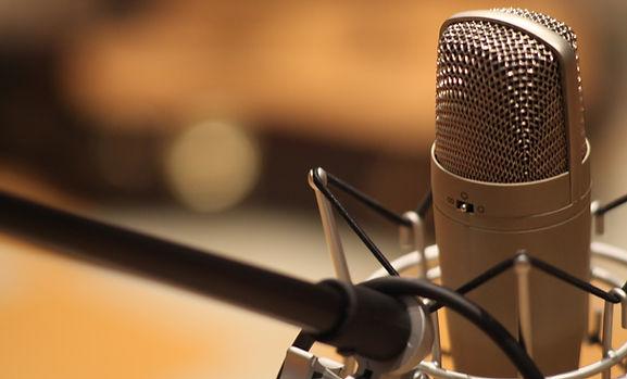 Estudio de grabación de micrófono