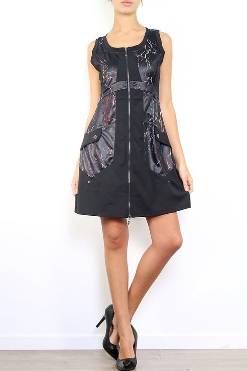A-Line Dress With Front Zipper