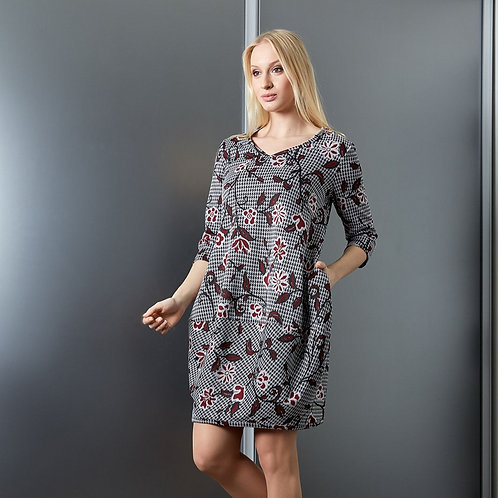 Houndstooth Dress With Pockets