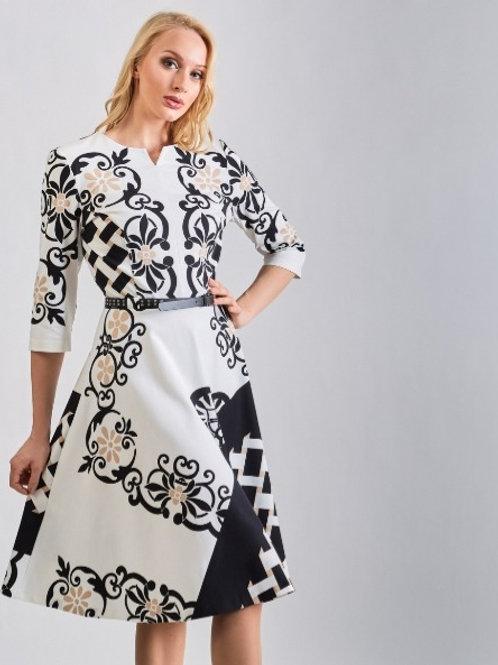 A-Line Dress With Belt