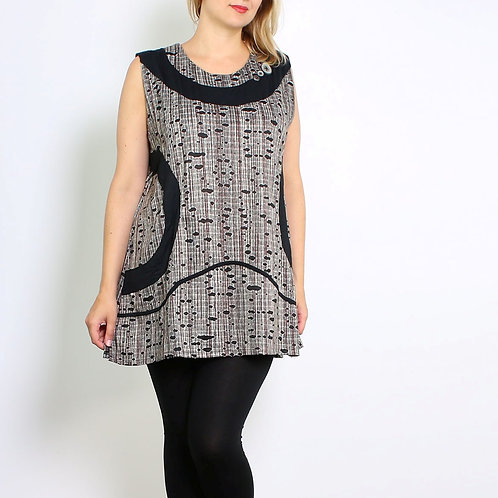 Sleeveless Tunic With Button Detail In Front