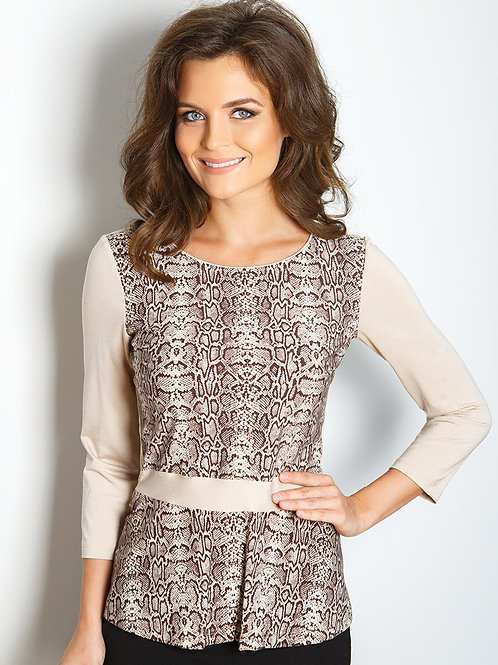 Leopard Print Top With Sleeve