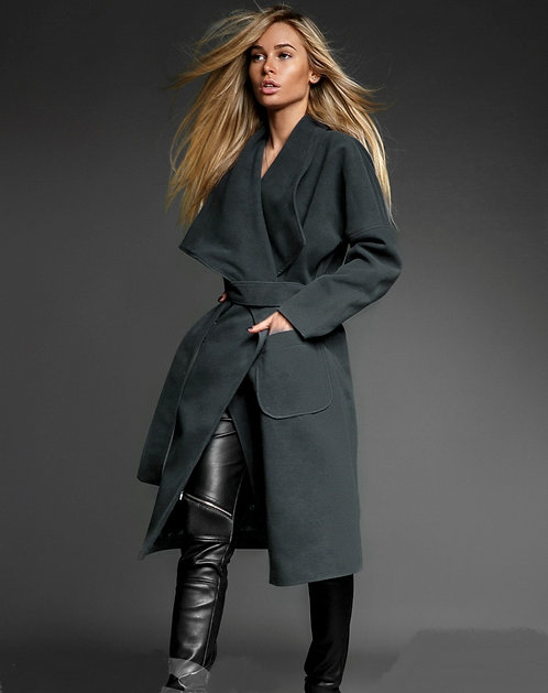 Fully Lined Midi Coat With Belt