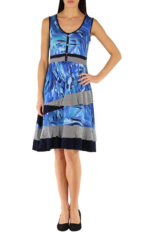 Sleeveless Cotton A-Line Dress