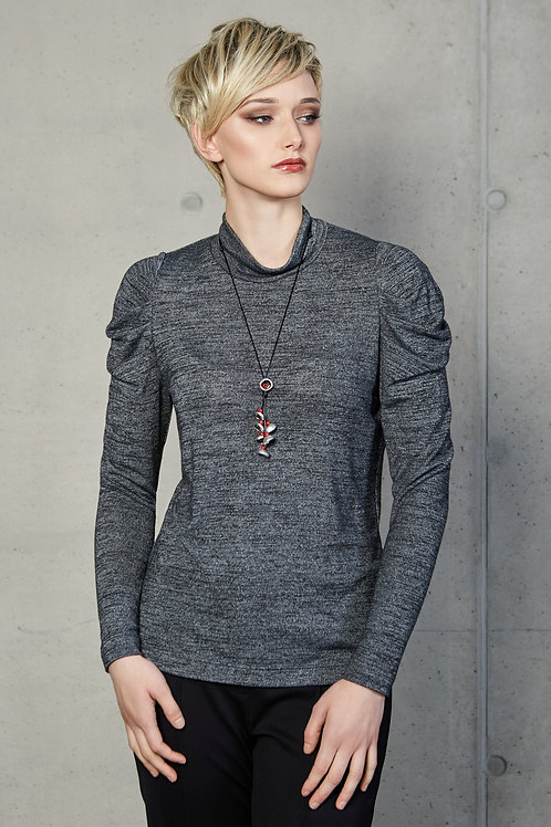 Grey Top With Sleeves