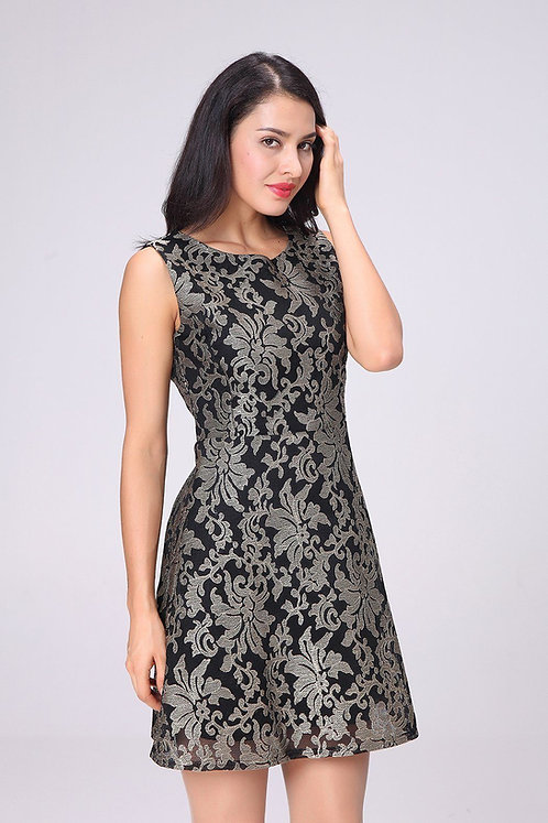 Black/Gold Dress With Lining