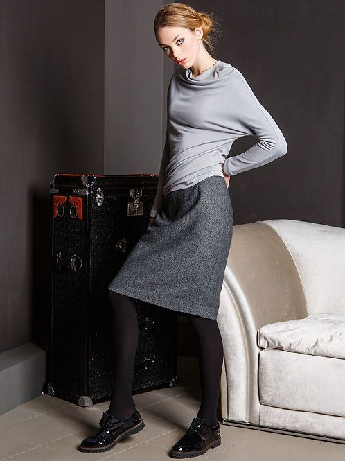 Classic Grey Skirt With Lining