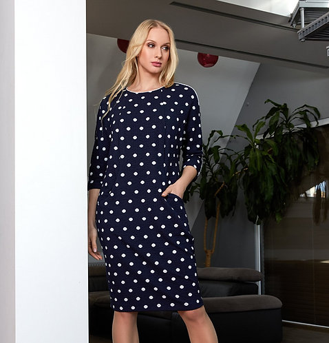 Polka Dot Cotton Mix Dress