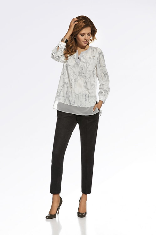 White Patterned Blouse