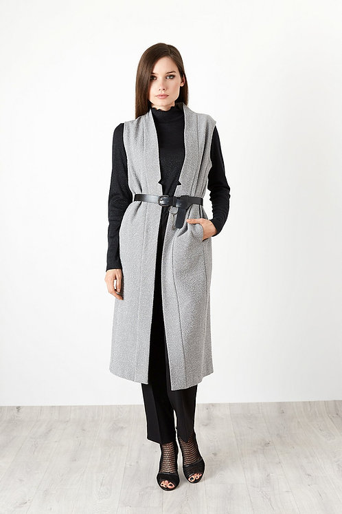 Vest With Belt and Pockets