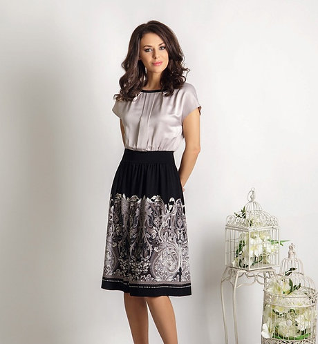 Skirt With White Print