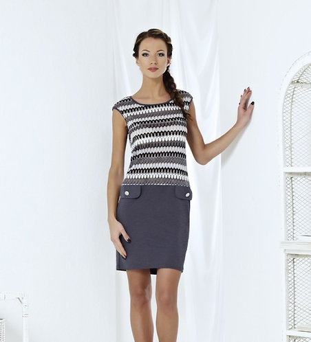Dress With Silver Lurex On The Top