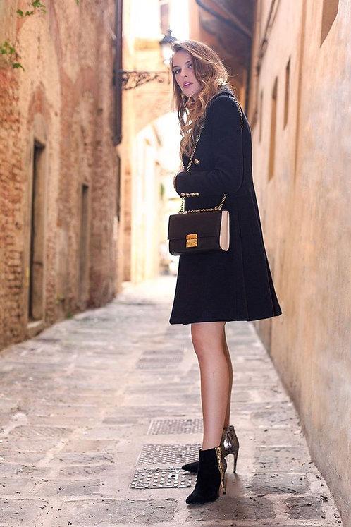 """""""Ellenc"""" Leather Shoulder Bag In Black/Cream By CFONTAN"""