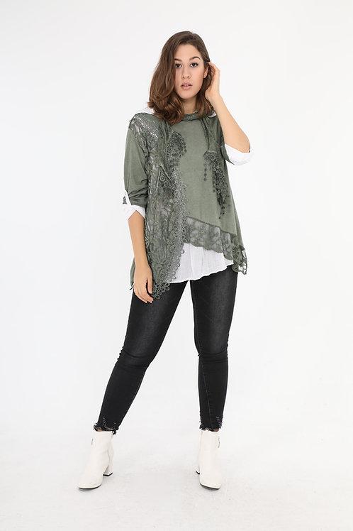 Three-Piece Cotton Tunic/Top
