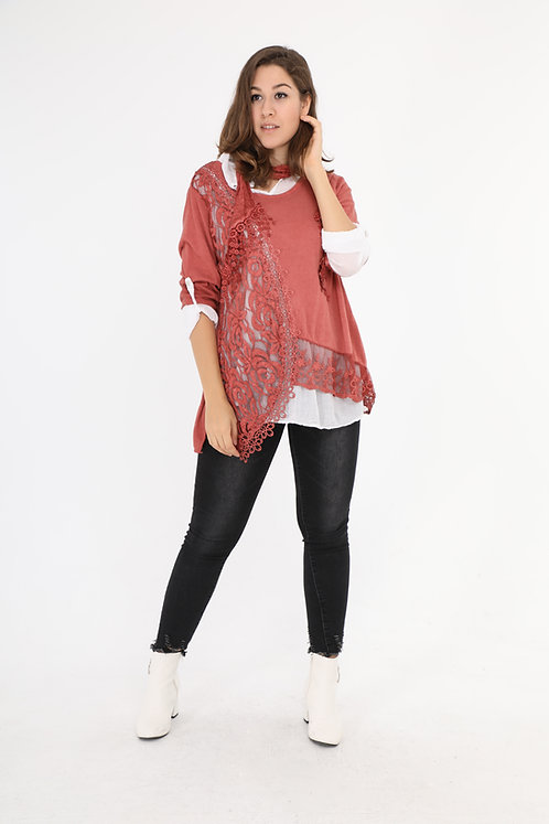 Three-Piece Cotton Tunic/Top