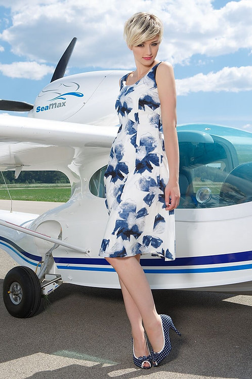 Midi Cotton Sleeveless A-Line Dress