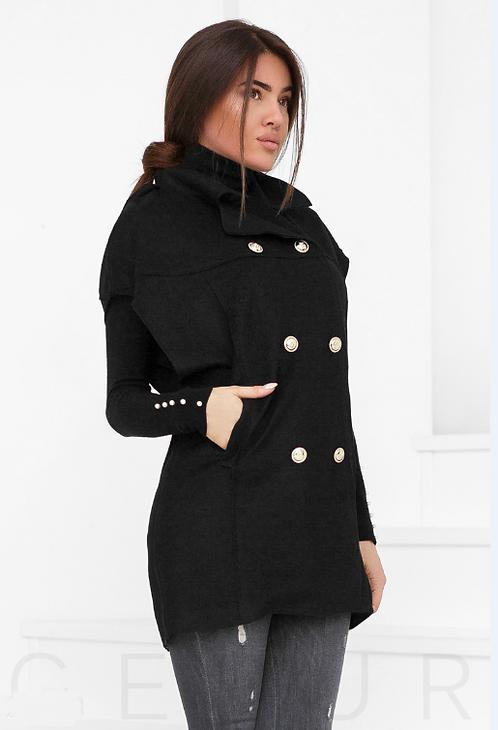 Woolen Cape/Vest With Pockets