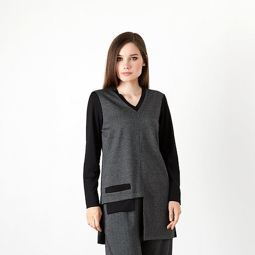 Top/Tunic With Cutout Pocket Detail