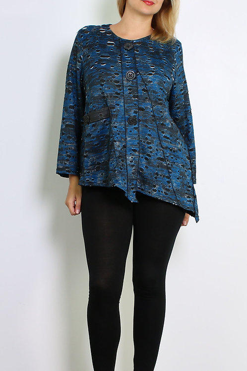 Semi-Sheer Top With Pocket