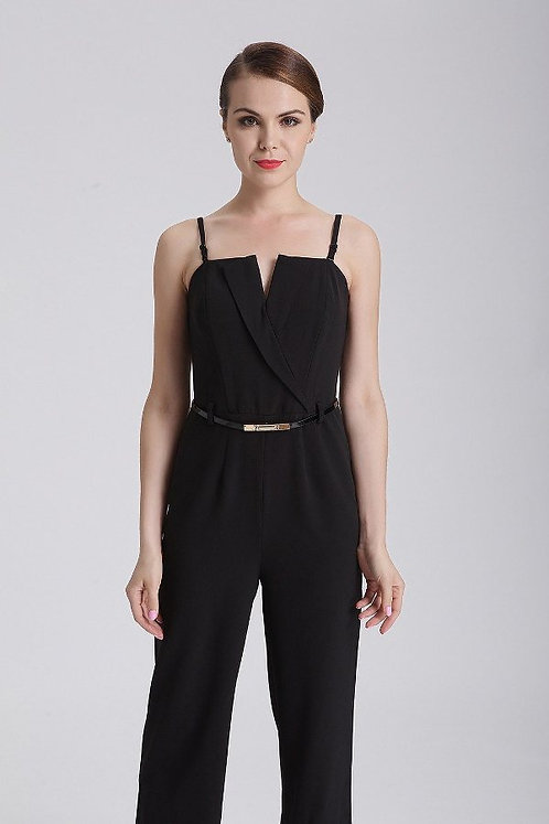 Black Jumpsuit With Belt
