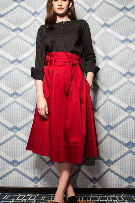 A-Line Cotton Skirt