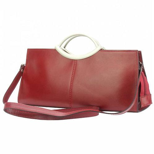 Cipressino Leather Handbag In Red