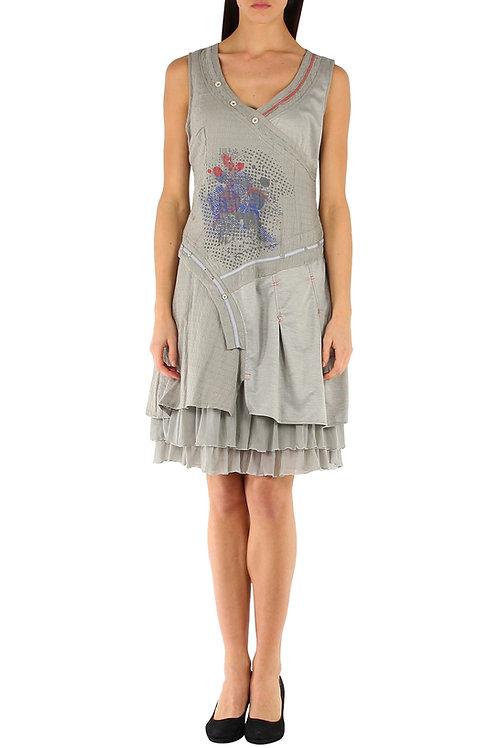 Sleeveless Cotton Dress With Lining